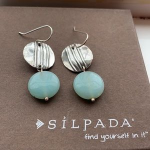 W2019 Silpada Quartzite Sterling silver earrings